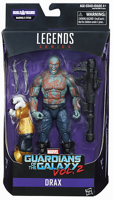 Marvel Legends Guardians Of The Galaxy Series Drax Figure Baf Titus