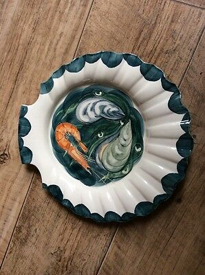 Jersey Pottery  Hand Painted Serving Plate
