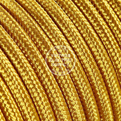 Gold Round Cloth Covered Electrical Wire - Braided Rayon Fabric Wire