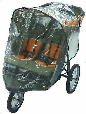 Rain Wind Cover for Baby Trend Front Swivel Wheel Double Expeditions Stroller