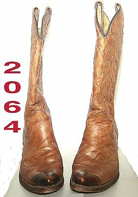 Cowboy Boots Men's Size 8 1/2 D Dark Brown  Made In The Usa Near Mint Condition!