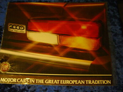 """1980 Fiat Spider 2000 Brochure , Quad-Fold With Framable Poster , 8 7/8"""" X 11"""""""