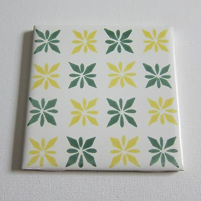 """Vintage 1960s 4"""" x 4"""" Wall Tile, 170 Sq Ft Available, Made in Italy"""
