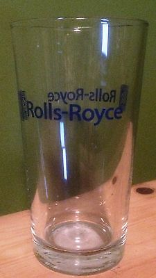 ROLLS ROYCE Pint Beer Bar Glass British Car Automobile Advertising Collectible