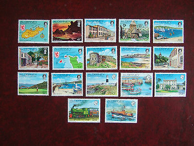 ALDERNEY 1983 ISLAND SCENES DEFINITIVES 17v COMPLETE MINT MNH
