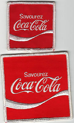 2 1970's? French Canadian Coca-Cola Patches