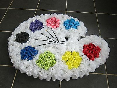 Artist Pallet Funeral Tribute Sympathy Silk Artifical Fake Flowers 74cm x 54cm