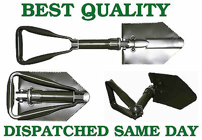 TRI FOLD Army / Military Style Snow & Camping Entrenching Shovel