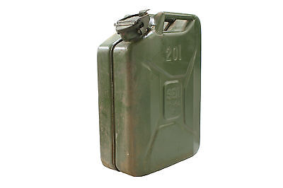 Vintage Ex French Military Jerry Can 20L Steel Diesel Petrol Oil Water Storage