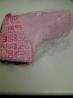 New Ladies Official European Tour Putter Cover Pink