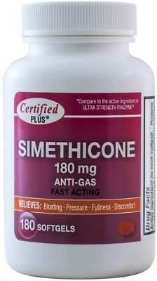Simethicone 180 mg Gas Relief Generic for Phazyme Ultra Strength 180 Gelcaps