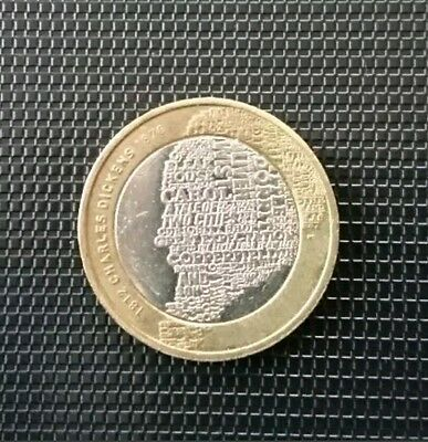 Charles Dickens  2012 £2 coin#!