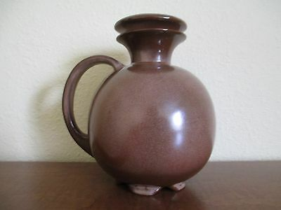 FRANKOMA Pottery, Brown Satin Coffee Carafe No. 82 with Lid