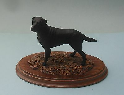 Detailed Country Artists 1987 Black Labrador Dog Figurine - K. Sherwin