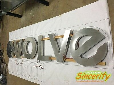 Custom-made Stainless Steel Led Backlit Halo Lit Channel Letter Signboard Banner
