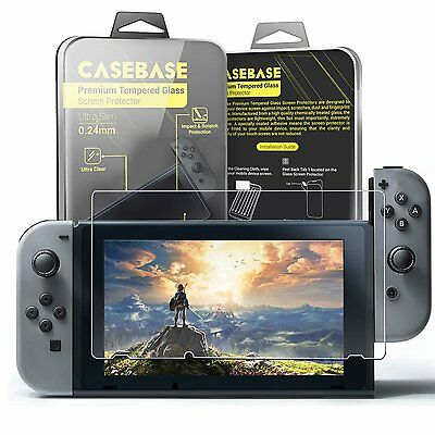 Nintendo Switch Premium Tempered Glass Screen Protector Cover By CaseBase