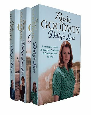 Dilly Series Saga Rosie Goodwin 3 Books Dilly's Story Romance Family 1 2 3 New