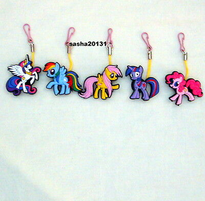 5  My Little Pony Themed Zipper Pull Charms,brand New