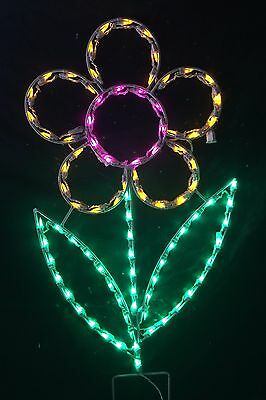 Easter Spring Daisy Yard Lawn Outdoor LED Lighted Decoration Steel Wireframe