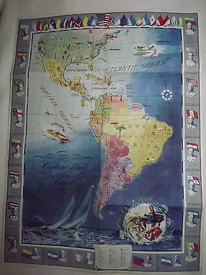 Captain Silver's Sea Chart Map From Aboard The Sea Hound Antique