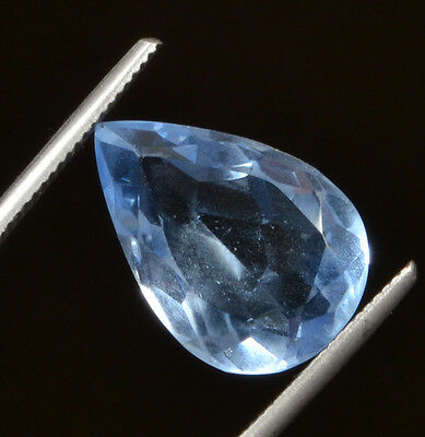 Awesome 12.40ct Beautiful Transparent Pear Shaped Lab Created Blue Topaz GN-2969