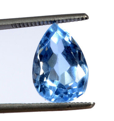 Awesome 11.34ct Beautiful Transparent Pear Shaped Lab Created Blue Topaz GN-2970