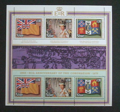 Niue 1978 25th Anniversary Coronation Sheetlet MNH UM unmounted mint