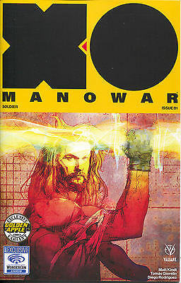 X-O Manowar 1 Valiant 2017 NM Golden Apple Wondercon Bill Sienkiewicz Variant