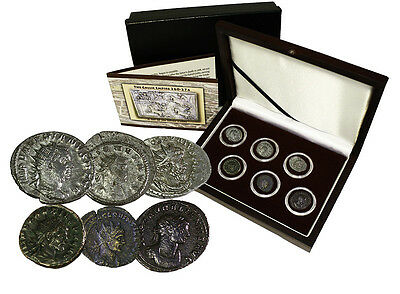 The Gallic Empire (260 -274 ) Rome Breaks Apart 6 Silver Coins Collection w/ COA