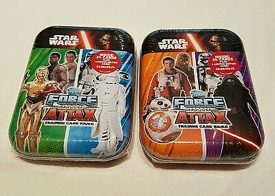 Star Wars The Force Attax Two Different Sealed Mini Tins