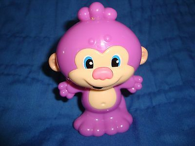 "Laugh and Learn Monkey Rattle Fisher Price 2013 Mattel 3.5"" T PVC"