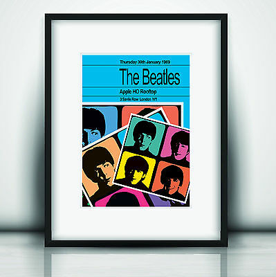 The Beatles Last Concert Poster Print Olivia Valentine 2019© NEW Exclusive