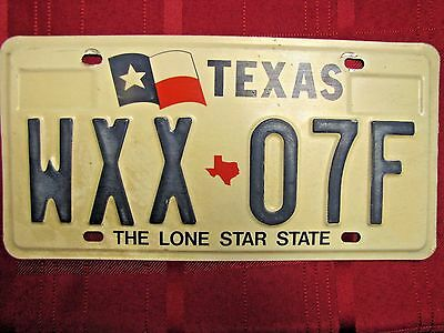 Texas Lone Star State License Plate with the Flag on Left (Heavy 1990's)(#b2)