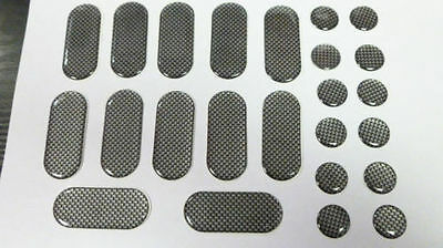 Motorbike Strips And Dots Carbon Effect 24 Pack Sticky Dashes Spots Gel Tank