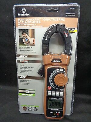 Southwire 23030T True RMS AC Clamp Meter 1000A *NEW*