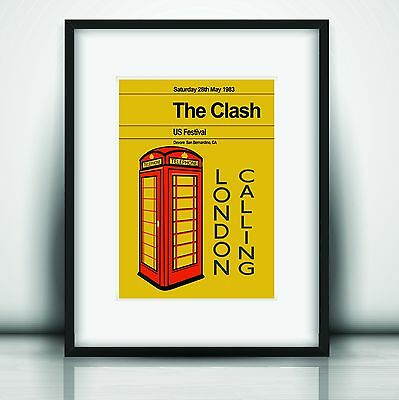 The Clash's Last Concert Poster Print Olivia Valentine© 2017 NEW Exclusive