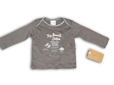 Baby Boys JUST HATCHED Long Sleeve Cotton Shirt ~ Size 0 ~ NEW ~ Grey ~ BNWT