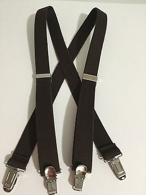 "New, Boys or Girls, Brown, 1"",  Adj. 36"",  Suspenders / Braces, Made in the USA"