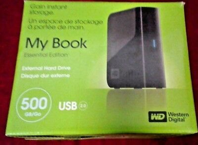 Western Digital WD 500 GB MY BOOK ESSENTIAL EDITION 2.0 External Hard Drive