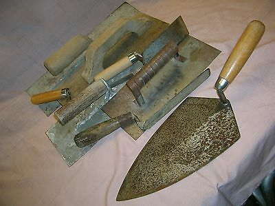 Cement Finishing & Trowel Tools - Some Vintage (lot of 8)