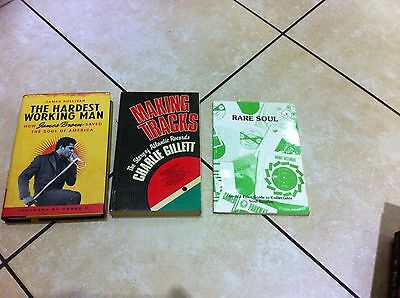 3 x FUNK AND SOUL BOOKS  james brown + story of atlantic + rare soul price guide
