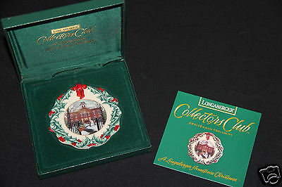 HOMETOWN CHRISTMAS Longaberger Set 1996 1997 1998 COLLECTOR'S CLUB Ornaments