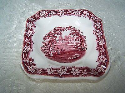 Beautiful Masons / Mason's Pink / Red Vista  Cigarette Ashtray