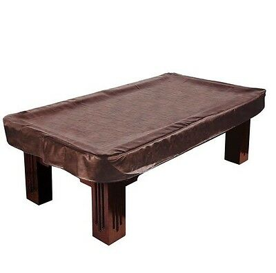 "7ft Empire USA Deluxe Dark Brown Fitted Leatherette Pool Table Cover  50"" x 90"""