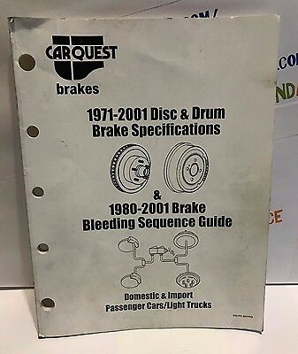 BRAKE SPECIFICATIONS & Bleeding Guide 1993-2018 - £19 71