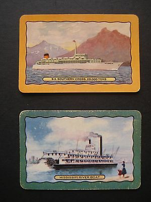 2 X Vintage Coles Swap Cards Named_S.s Southern Cross_Mississipi River Boat