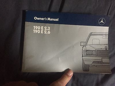 1988 Mercedes Benz 190E 2.3 and 2.6 USA Owners Manual