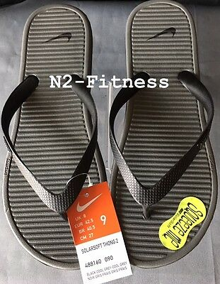 4c899862bddc MEN S NIKE SOLARSOFT Thong 2 Flip-Flops 488160 090 Black  Grey Sizes ...
