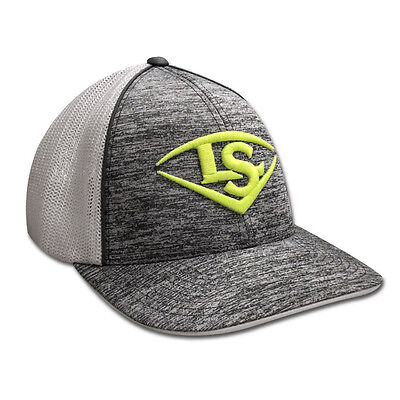 Louisville Slugger LS Logo Baseball/Softball Trucker Hat - Heather/Optic - S/M