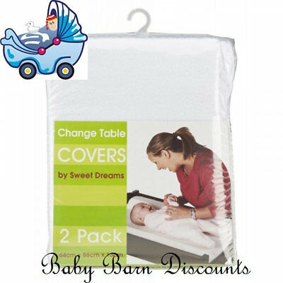 Sweet Dreams - Change Table Cover Mat - 2 Pack - White